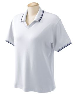 Ladies Tipped Perfect Pima Interlock Polo-