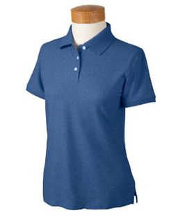 Ladies� Recycled Pima Melange Pique Polo-