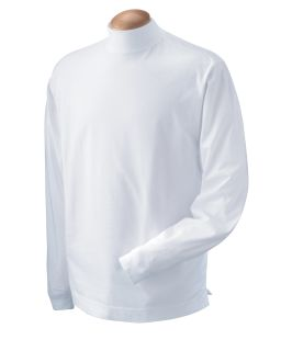 Adult Sueded Cotton Jersey Mock Turtleneck-Devon & Jones