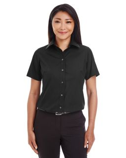 Ladies Crown Woven Collection™ Solid Broadcloth Short-Sleeve Shirt-