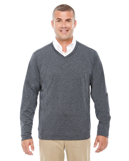 Adult Fairfield Herringbone V-Neck Pullover-Devon & Jones