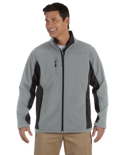 Mens Soft Shell Colorblock Jacket-Devon & Jones