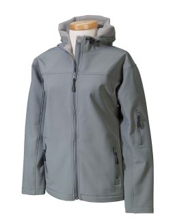 Ladies Soft Shell Hooded Jacket-
