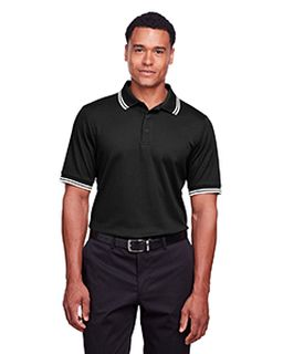 Mens Crownlux Performance™ Plaited Tipped Polo-Devon & Jones