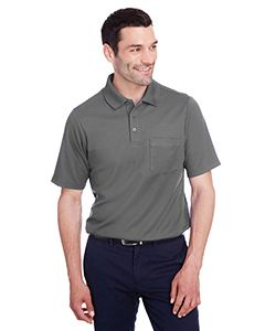 Mens Crownlux Performance� Plaited Polo With Pocket-