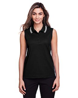 Ladies Crownlux Performance� Plaited Tipped Sleeveless Polo-
