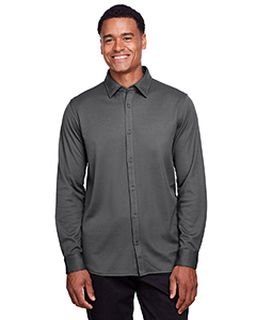 Mens Crownlux Performance™ Plaited Button-Down Shirt-