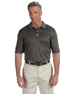 Mens Pima-Tech™ Jet Pique Heather Polo-Devon & Jones