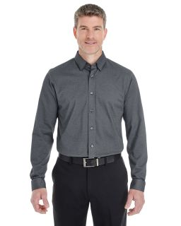 Mens Central Cotton Blend Melange Button-Down-