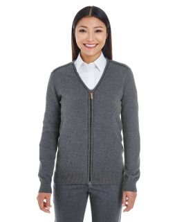 Ladies Manchester Fully-Fashioned Full-Zip Sweater-Devon & Jones