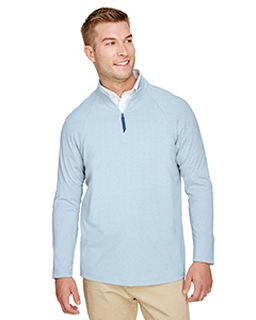 Crownlux Performance™ Mens Clubhouse Micro-Stripe Quarter-Zip-Devon & Jones