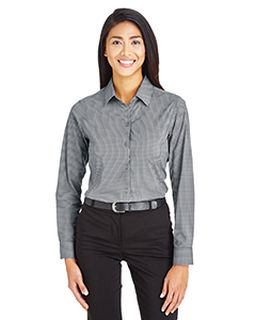 Crownlux Performance™ Ladies Tonal Mini Check Shirt-Devon & Jones