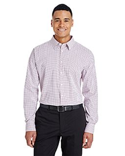Crownlux Performance™ Mens Micro Windowpane Shirt-Devon & Jones