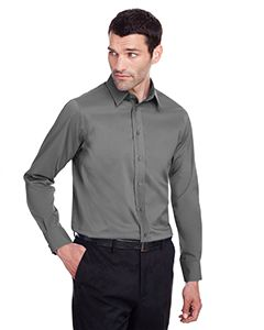 Mens Crown Collection� Stretch Broadcloth Slim Fit Shirt-Devon & Jones