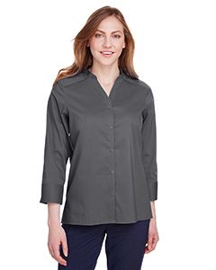 Ladies Crown Collection� Stretch Broadcloth 3/4 Sleeve Blouse-