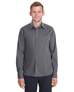 Mens Crown Collection® Stretch Broadcloth Untucked Shirt-