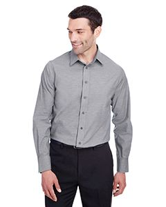 Mens Crown Collection® Stretch Pinpoint Chambray Shirt-
