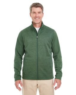 Mens Newbury Colorblock Melange Fleece Full-Zip-Devon & Jones