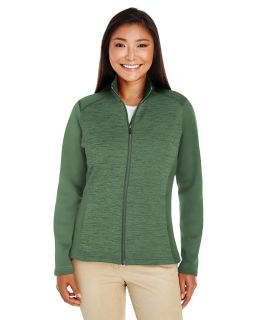 Ladies Newbury Colorblock Melange Fleece Full-Zip-Devon & Jones