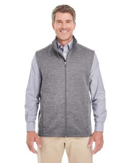 Mens Newbury Melange fleece Vest-Devon & Jones