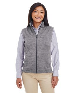 Ladies Newbury Melange fleece Vest-Devon & Jones