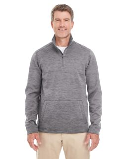 Mens Newbury Melange Fleece Quarter-Zip-Devon & Jones