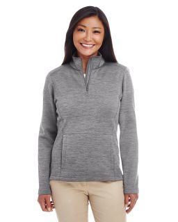 Ladies Newbury Melange Fleece Quarter-Zip-Devon & Jones