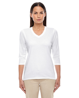 Ladies Perfect Fit™ Bracelet-Length V-Neck Top-