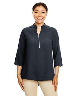 Ladies Perfect Fit™ 3/4-Sleeve Crepe Tunic-Devon & Jones