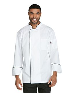 Unisex Cool Breeze Chef Coat With Piping-Dickies Chef