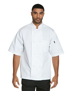 Unisex Classic Knot Button Short Sleeve Chef Coat-Dickies Chef