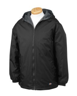 Mens Fleece-Lined Hooded Nylon Jacket-Dickies