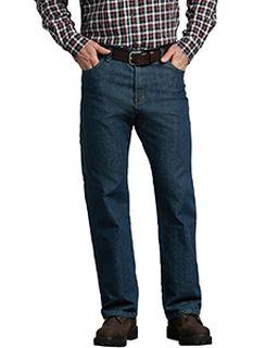 Mens Flex Relaxed Fit Straight Leg 5-Pocket Carpenter Tough Max� Denim Jean Pant-