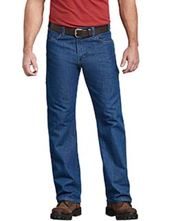 Mens Flex Relaxed Fit Straight Leg 5-Pocket Carpenter Tough Max™ Denim Jean Pant-