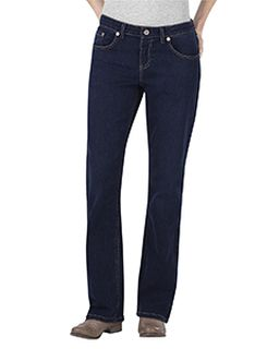 Ladies Relaxed Boot Cut Denim Jean Pant-