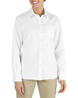 Ladies Long-Sleeve Stretch Poplin Shirt-Dickies