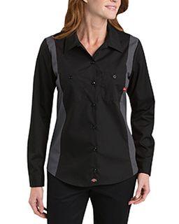 Ladies Industrial Long-Sleeve Color Block Shirt-Dickies