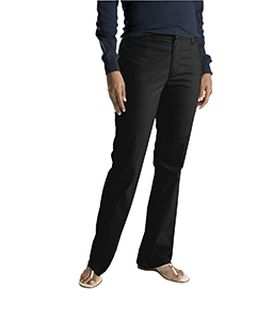 Ladies Slim Fit Boot Cut Stretch Twill Pant-