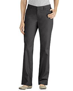 Ladies Curvy Fit Straight Leg Flat Front Pant-