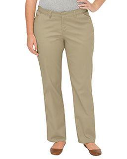698d4bc7c40 Ladies Premium Plus-Size Curvy Fit Straight-Leg Flat Front Pant-Dickies