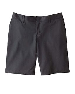 "6.75 Oz. Womens 9"" Flat Front Short-"