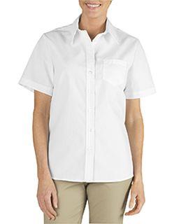 Ladies Short-Sleeve Stretch Poplin Shirt-