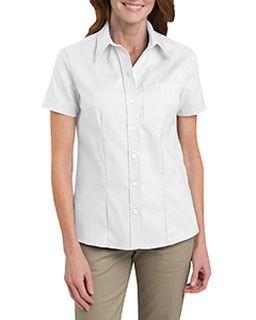 Ladies Short-Sleeve Stretch Oxford Shirt-