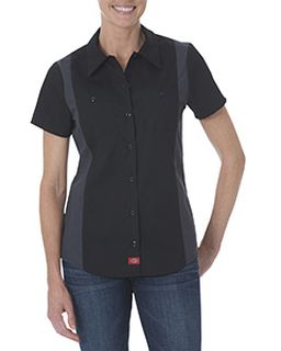 Ladies Industrial Short-Sleeve Color Block Shirt-Dickies