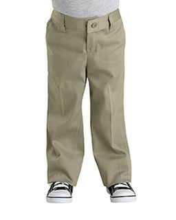 Girls Classic Fit Straight-Leg Twill Stretch Pant-