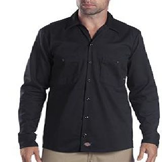 6 Oz. Tall Industrial Long-Sleeve Cotton Work Shirt-Dickies