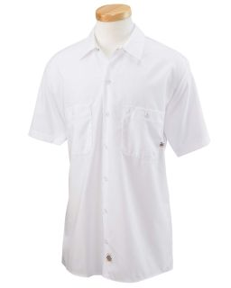 Mens 4.25 Oz. Industrial Short-Sleeve Work Shirt-