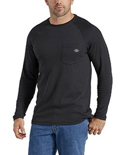 Mens Tall Temp-Iq Performance Cooling Long Sleeve Pocket T-Shirt-