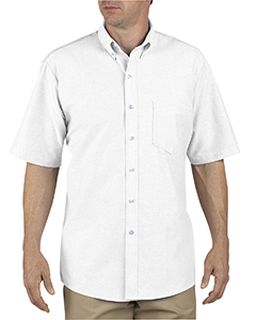 Unisex Button-Down Oxford Short-Sleeve Shirt-