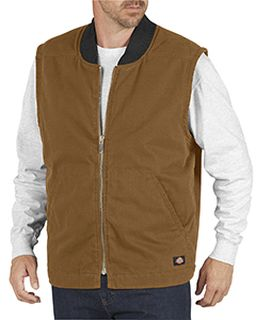 Unisex Sanded Duck Insulated Vest-Dickies